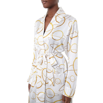 Saturn silk robe