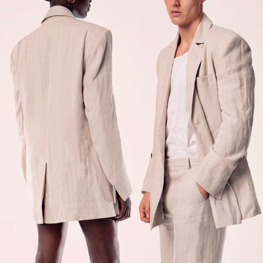 NATURA LINEN TAILORED JACKET