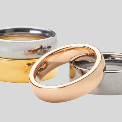Get The Look Of A Gold Ring For Less With These Tungsten Wedding Bands