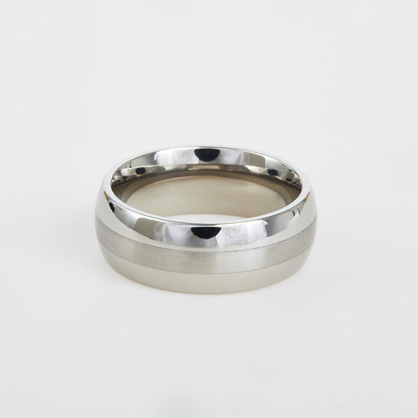 Titanium Satin Center 8mm