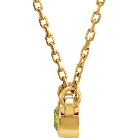 august peridot gemstone necklace