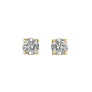 1/2 carat diamond stud earrings yellow gold