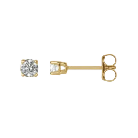 1/5 carat diamond stud earrings yellow gold