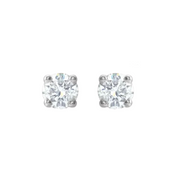 1/5 carat diamond stud earrings white gold