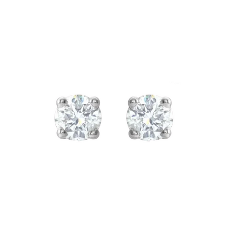 1/2 carat diamond stud earrings white gold