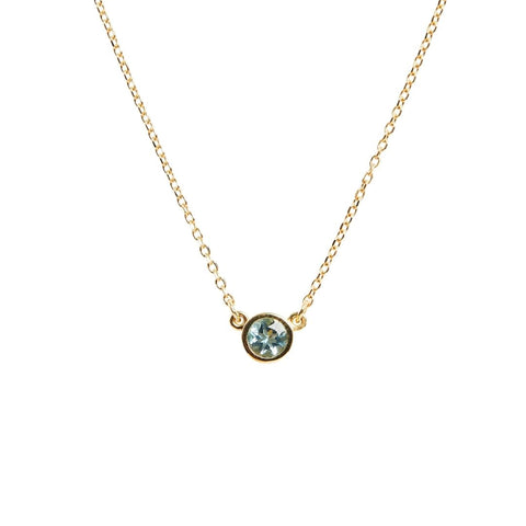 march aquamarine gemstone necklace