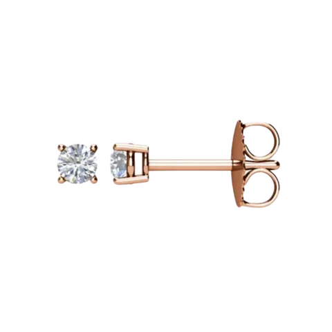 1/2 carat diamond stud earrings rose gold