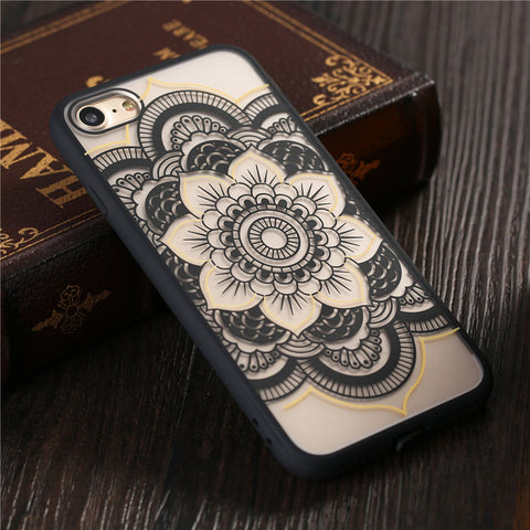Mandala & Henna Style Cases For iPhone 7 6 6S Plus 5 5s SE