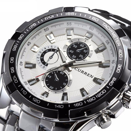 Luxury Stainless Steel Casual Quartz Watch