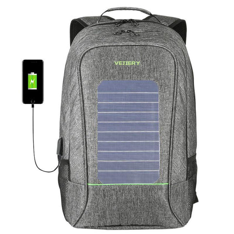 Solar Powered Backpack - Smartphone & Tablet Charger