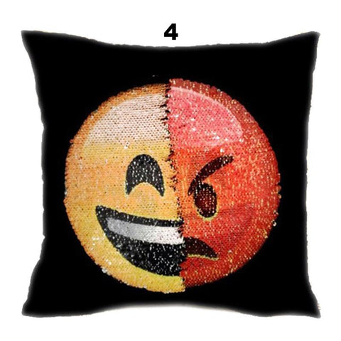 Face Changing Emoji Pillow Cases - Choose Your Mood!