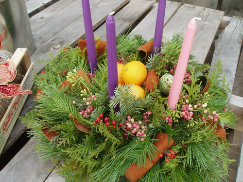 Table Top Advent/ Holiday Wreath