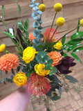 Warm Colour Palette Handtied Bouquet
