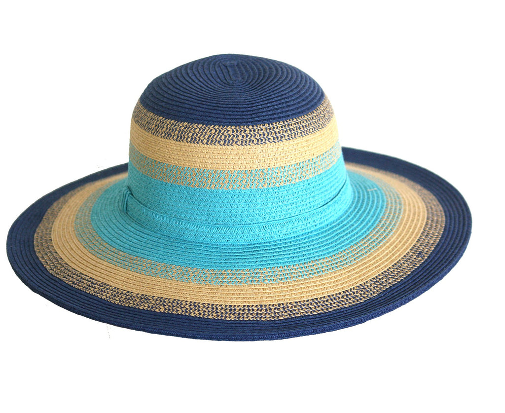 JACARU SUMMER LOVIN' BRIGHT WIDE BRIM HAT