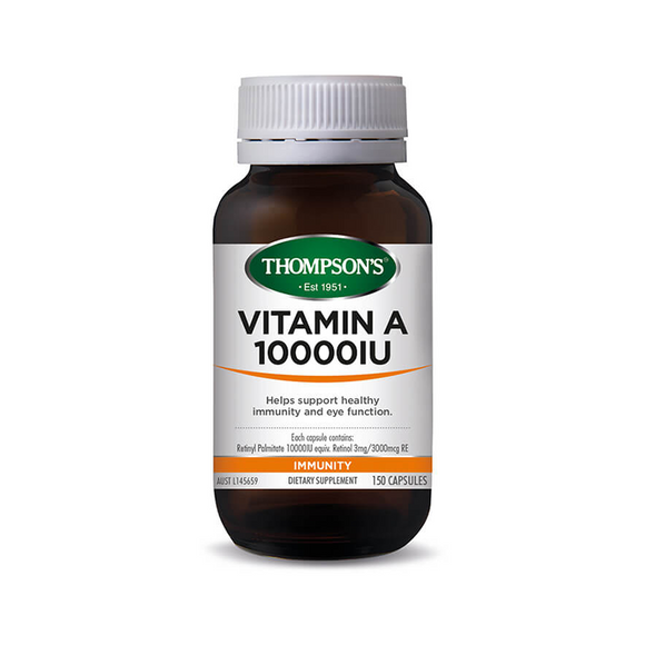 Thompsons Vitamin A 10000 IU Capsules 100