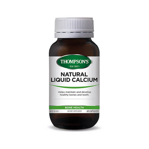Thompsons Natural Liquid Calcium Capsules 60's
