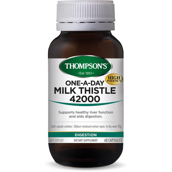 Thompsons One-A-Day Milk Thistle 42000mg Capsules 60's
