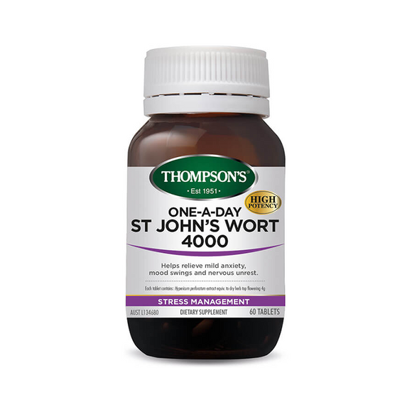Thompsons One-A-Day St Johns Wort 4000mg Tablets 60's