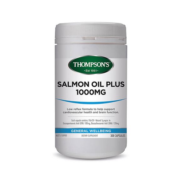 Thompsons Salmon Oil Plus 1000mg Capsules 300's