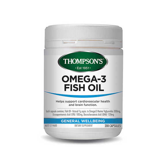 Thompsons Omega 3 Fish Oil 1000mg 400 Capsules