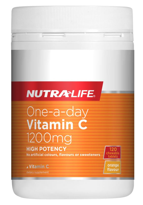 Nutralife One-A-Day Vitamin C 1200mg Tabs 120s