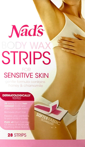 Nads Body Wax Strips for sensitive skin - Strips 28