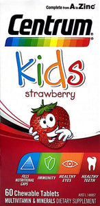 Centrum kids 60 chewable tablets Strawberry - DominionRoadPharmacy
