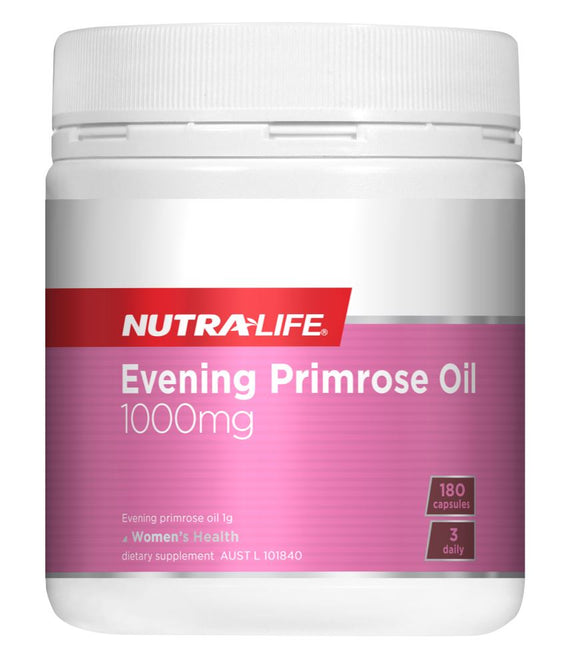 Nutralife Evening Primrose Oil 1000mg Caps 180s