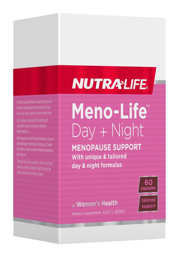 Nutralife Meno-Life Day Night Menopause Support Caps 60's