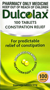 Dulcolax Constipation relief 5 mg -100 Tablets - DominionRoadPharmacy