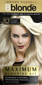 JR  Bblonde Maximum blonding kit - light to dark brown hair