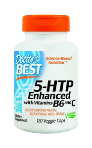 Doctor's Best 5-HTP 100mg Enhanced Enhanced with Vitamins B6 & C 120 Capsules - DominionRoadPharmacy