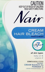 Nair Cream Hair Bleach - Cream bleach 28 g, Powder 7g