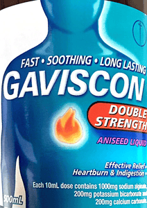 Gaviscon Double Strength Aniseed liquid 500 ml - DominionRoadPharmacy