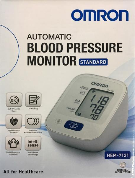 Omron HEM 7121 Standard Blood Pressure Monitor with New Zealand Adapter