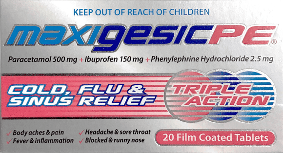 MaxigesicPE triple action - Film coated tablets 20