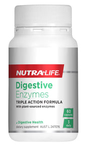 Nutralife Digestive Enzymes capsules 60's