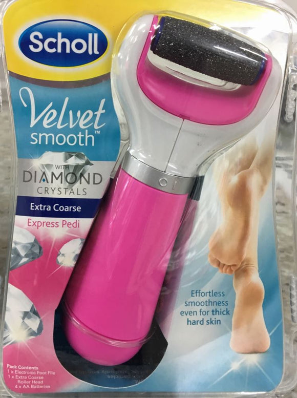 Scholl Velvet Smooth Express Pedi Starter Kit Pink