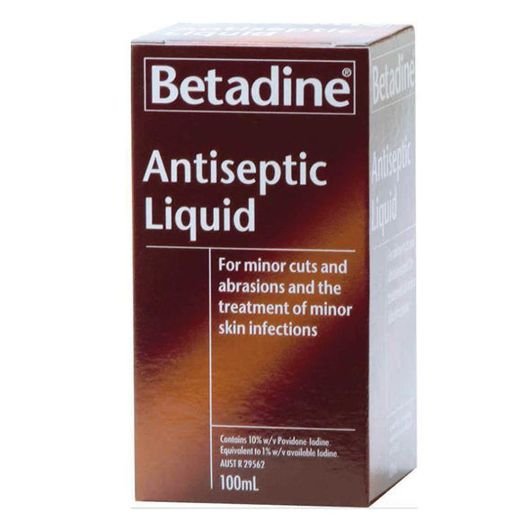 BETADINE Antiseptic Liquid 100mL - DominionRoadPharmacy