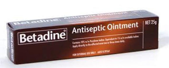BETADINE Antiseptic Ointment 25g 2 pack - DominionRoadPharmacy