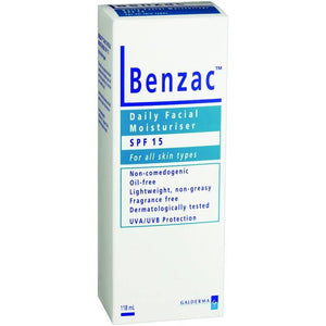 Benzac Facial Moisturiser SPF15 118 mL - DominionRoadPharmacy