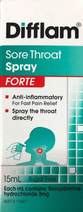 Difflam Sore throat spray FORTE 15ML - DominionRoadPharmacy