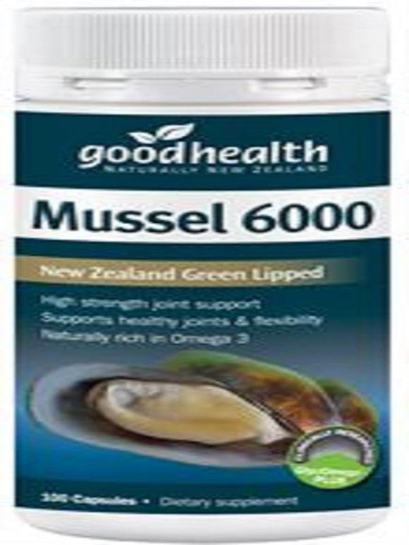 Good Health Green Lipped Mussel 6000 mg 100 Caps - DominionRoadPharmacy