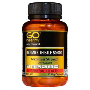 GO HEALTHY Milk Thistle 50,000 mg 60 caps - DominionRoadPharmacy