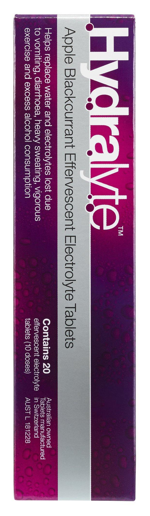Hydralyte Effervescent Electrolyte Tablets 20 pk Apple Blackcurrant