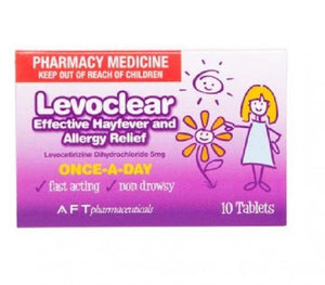 LEVOCLEAR Hay Fever and Allergy Relief 5mg 10 Tablets Pharmacy Medicine