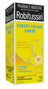 Robitussin Chesty Cough Forte 200 ml Pharmacy Medicine Quantity Restriction (1) Applies