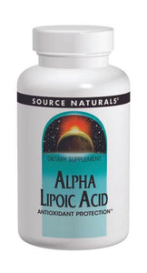 Source Naturals Alpha Lipoic Acid 100mg 30 Tablets