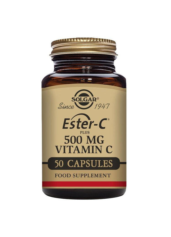 Solgar ESTER-C PLUS 500 mg VITAMIN C 50 vegetable capsules
