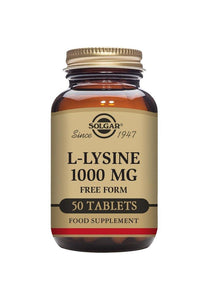 Solgar L-Lysine 1000mg 50 tablets